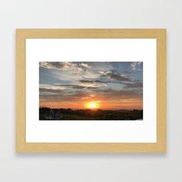 Sunset Fractate Framed Art Print