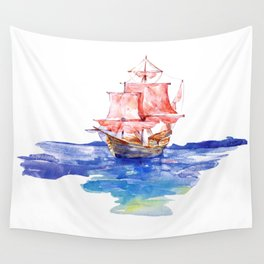 Fishing Boat Wall Tapestry