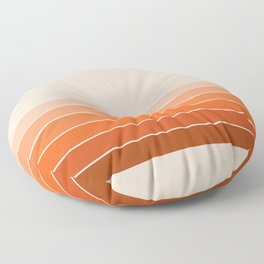 Red Rock Spring Stripes Floor Pillow