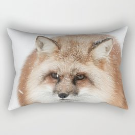 Red fox in the snow Rectangular Pillow