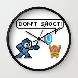 Mega Man Robs Link Wall Clock