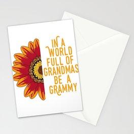 "Family Tee For Grandmas Saying ""In A World Full Of Grandmas Grammy"" T-shirt Design Ancestor Stationery Cards"