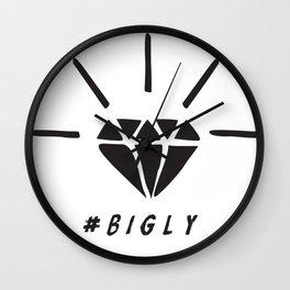 Trump Diamond #BIGLY by BenCapozzi Wall Clock