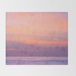 Purple Dreams - Ocean Sunset, Landscape, Scenery, Beautiful Purple Orange Yellow Throw Blanket