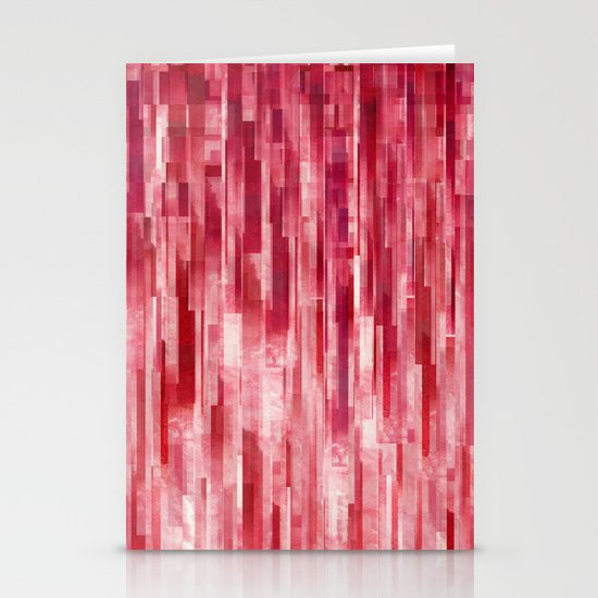 Red Rain Stationery Cards