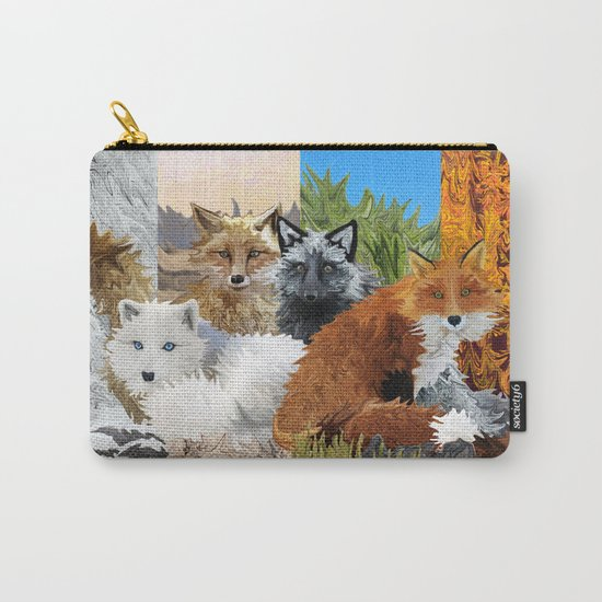 Four Shades of Fox Carry-All Pouch
