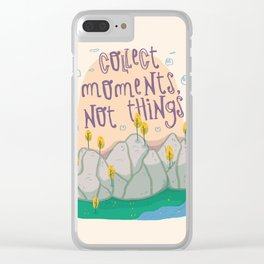 adventure quote Clear iPhone Case