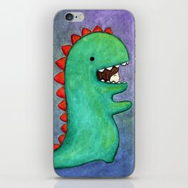 dino girl iPhone Skin