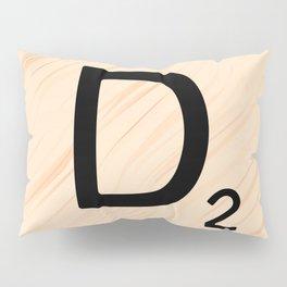 Scrabble Letter D - Large Scrabble Tiles Pillow Sham