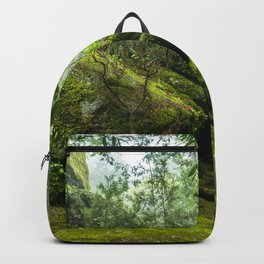 Green forest after raining II Backpack