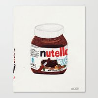 nutella Canvas Prints featuring Nutella by Angela Dalinger