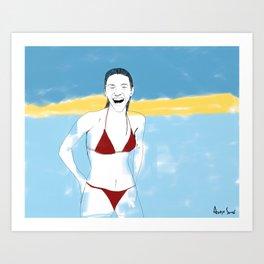 Sur la planche #03 Art Print