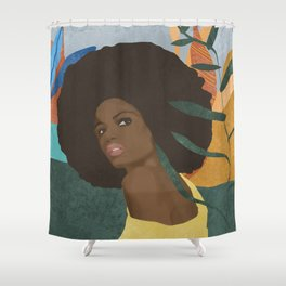 Afro lady #art print#society6 Shower Curtain