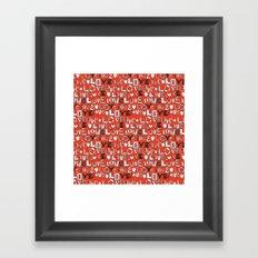 l o v e LOVE red Framed Art Print