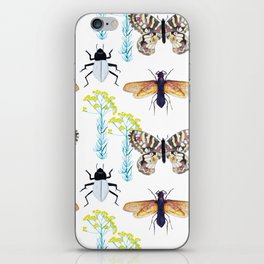 Watercolor Insects iPhone Skin