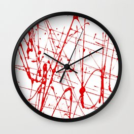 Blood spray Wall Clock