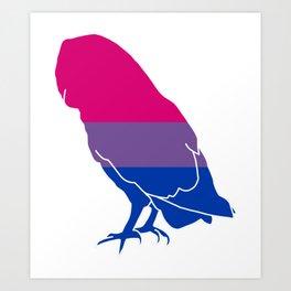 Bi Pride Owl Art Print