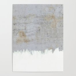 Painting on Raw Concrete Poster