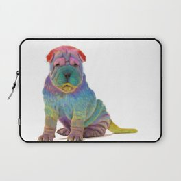 Colorful Sharpei Laptop Sleeve