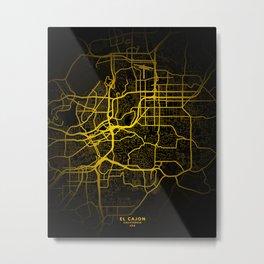 El Cajon, California, United States Map Metal Print