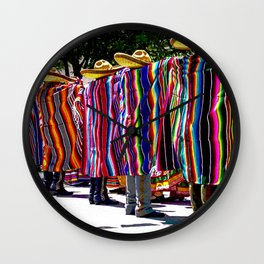 Dance of the Serape-clad Folklorico Dancers - Mesilla, N.M. Wall Clock