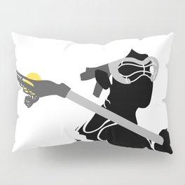 Lacrosse Girl in  Black Pillow Sham