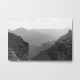 Colorless Canyon Metal Print