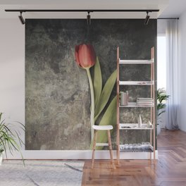 Red Tulip Wall Mural
