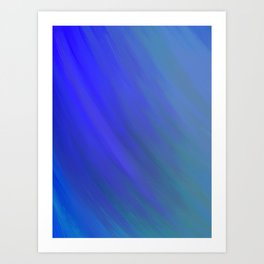 Fifty Shades of Blue Art Print