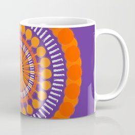 Rough Orange Mandala Coffee Mug