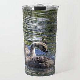 Two Goslings Taking a Swim, No. 1 Travel Mug