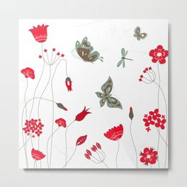 Tatemae Japanese White Metal Print