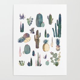 My best Cactus and Pineapples!!!! Poster