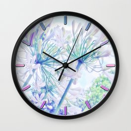 African Lilies (Agapanthus) Wall Clock
