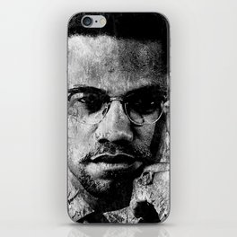 MALCOLM X (BLACK & WHITE VERSION) iPhone Skin