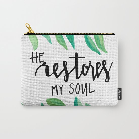 He restores my soul Carry-All Pouch