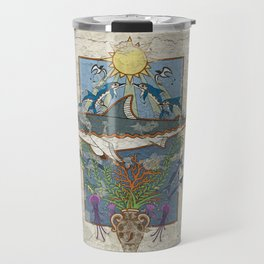 Great White Guardian - Minoan Fresco Travel Mug