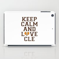 nfl iPad Cases featuring LOVE CLE BROWNS II by C. Wie Design