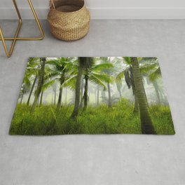 Tropical Forest Palm Trees Coconut Trees Rug
