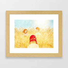 Catching a dream Framed Art Print