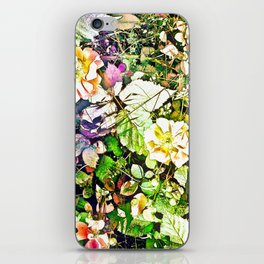 Scattered Blooms And Verdure iPhone Skin