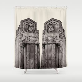Guardians in Oatmeal Shower Curtain