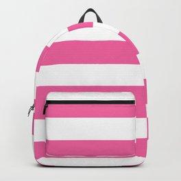 Barbie Pink (1990-1999) - solid color - white stripes pattern Backpack
