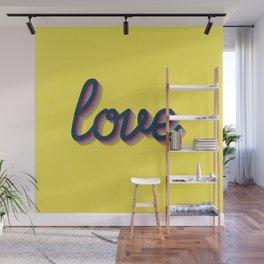 Love - yellow version Wall Mural