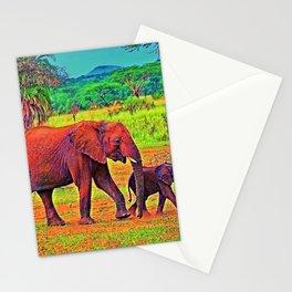 AnimalColor Elephant 003 Stationery Cards