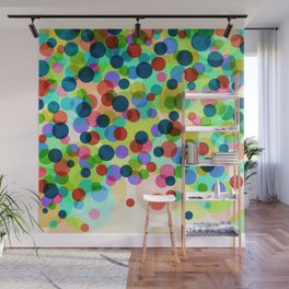 Dancing Bubbles Confetti Wall Mural
