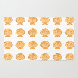 Light Orange Seashell Rug
