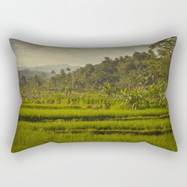Balapusuh Village Rice Paddies Rectangular Pillow