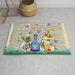 Alice In Wonderland Dictionary Page Celebration Rug