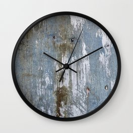 Abstract Rusty Grunge Metal Wall Clock